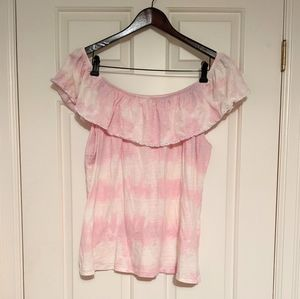 🚩2 for $15 - Tie-Dye Off the Shoulder Top